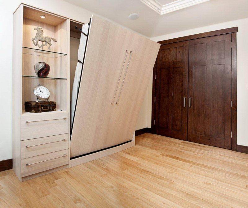 Кровать встроенная в шкаф (41)