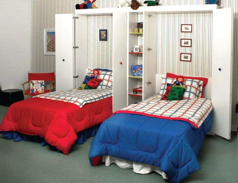 Кровать встроенная в шкаф (42)