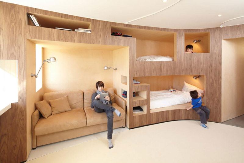 Кровать встроенная в шкаф (43)