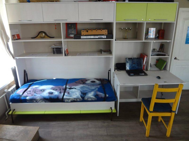 Кровать встроенная в шкаф (44)