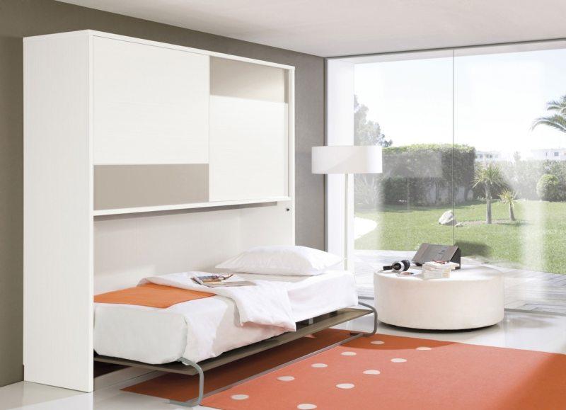 Кровать встроенная в шкаф (55)