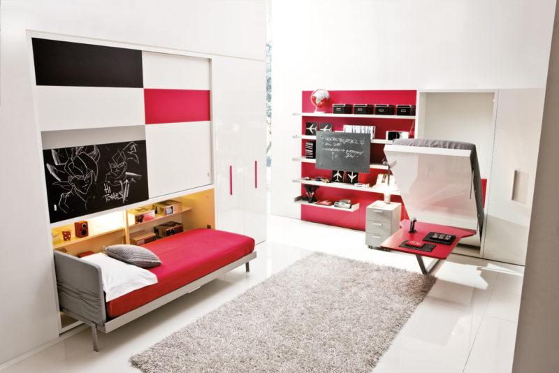 Кровать встроенная в шкаф (57)