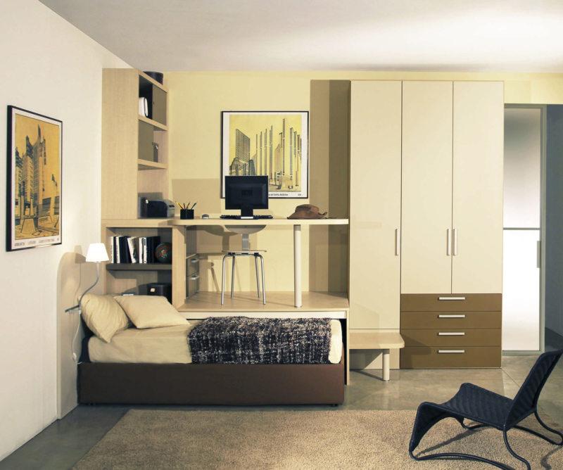 Кровать встроенная в шкаф (60)