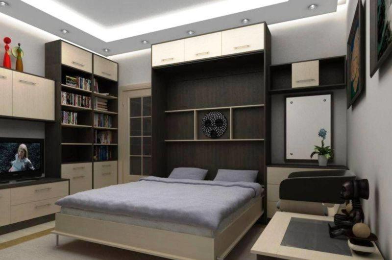 Кровать встроенная в шкаф (70)