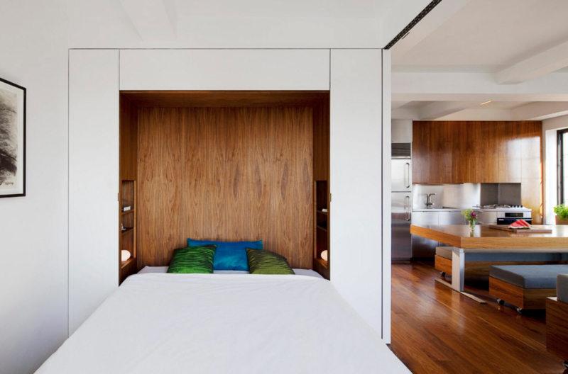 Кровать встроенная в шкаф (9)