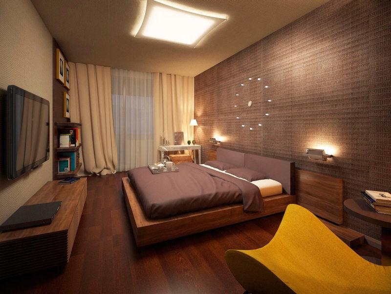 Квадратная спальня (26)