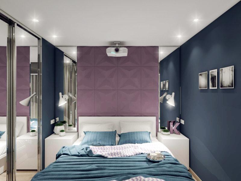 Квадратная спальня (33)