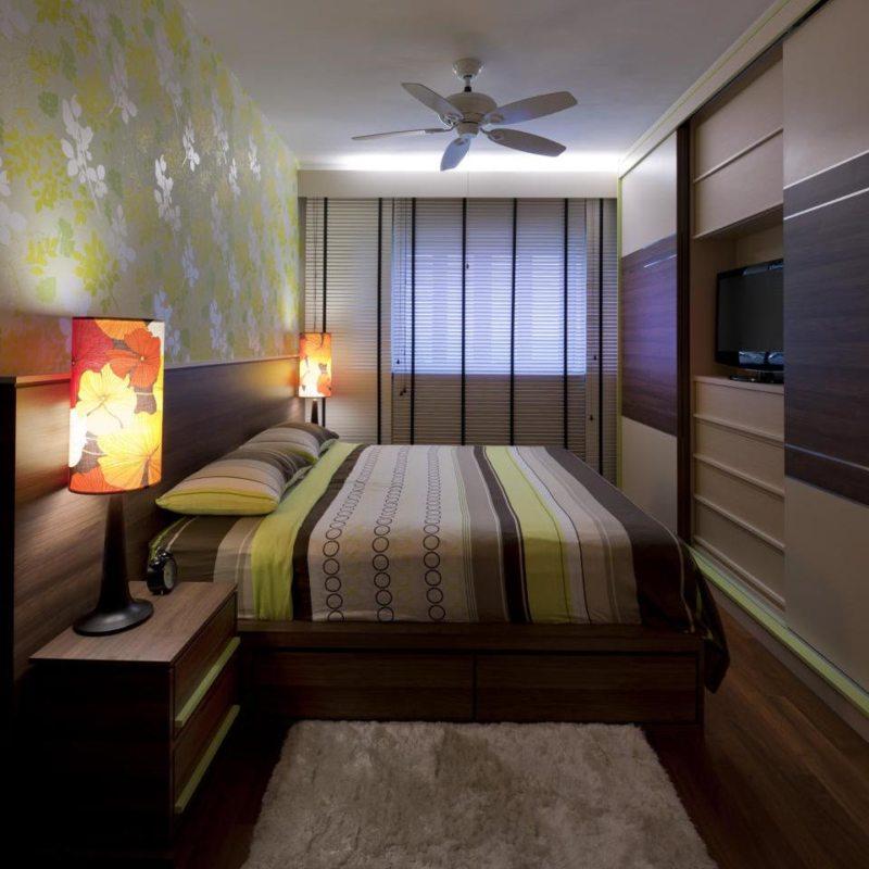 Квадратная спальня (36)