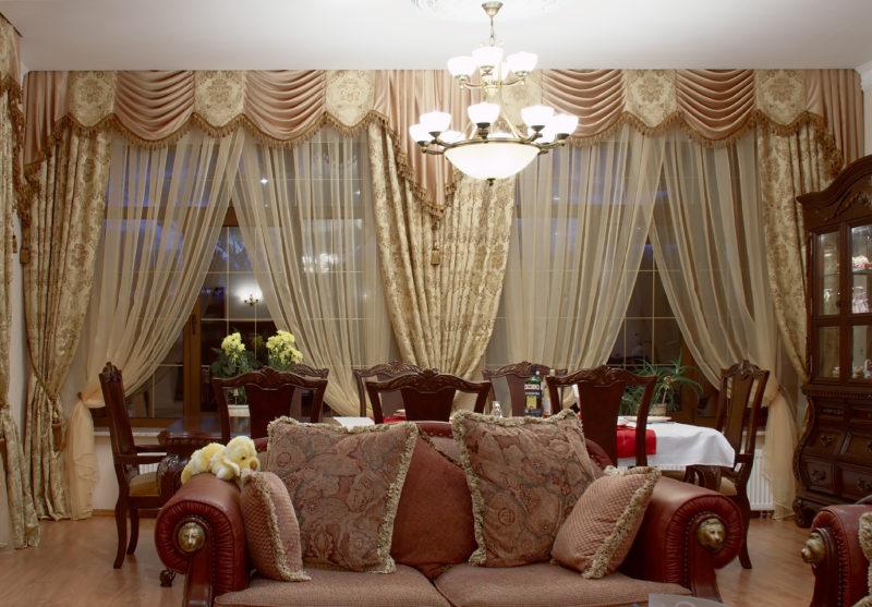 Ламбрекены в гостиную (15)
