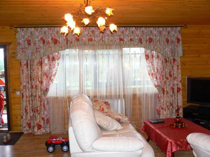 Ламбрекены в гостиную (16)