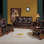 Leather seating living room (2)