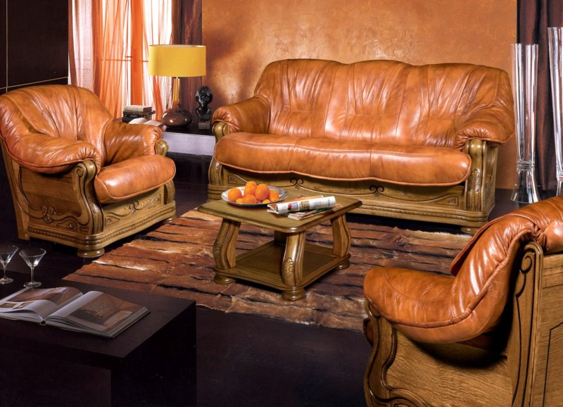 Leather seating living room (32)