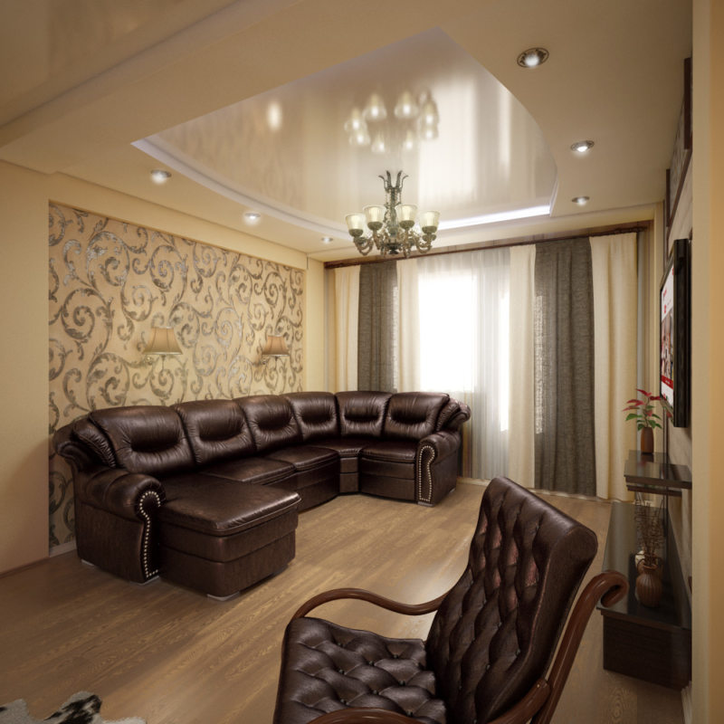 Leather seating living room (4)