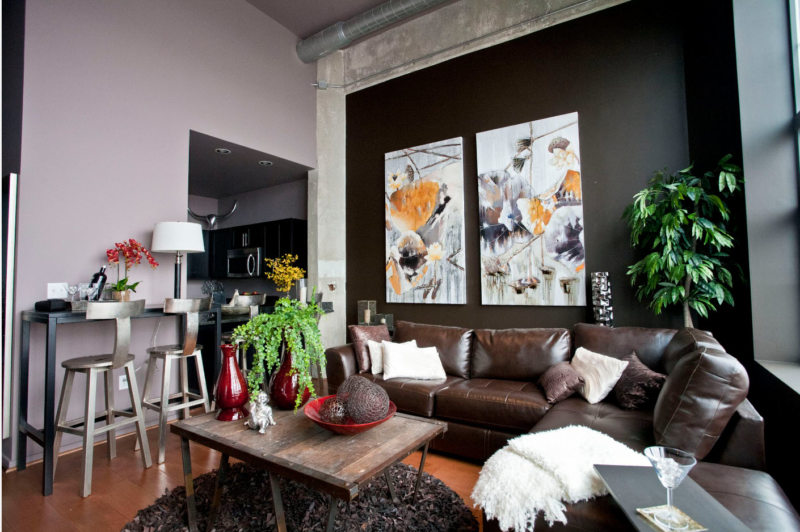 Leather seating living room (5)