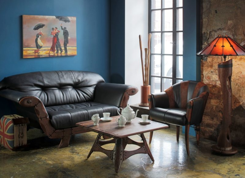 Leather seating living room (7)