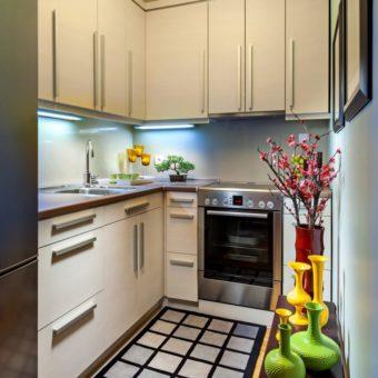 Маленькая кухня 2019-2020 годов — 100 фото новинок дизайна малогабаритной кухни