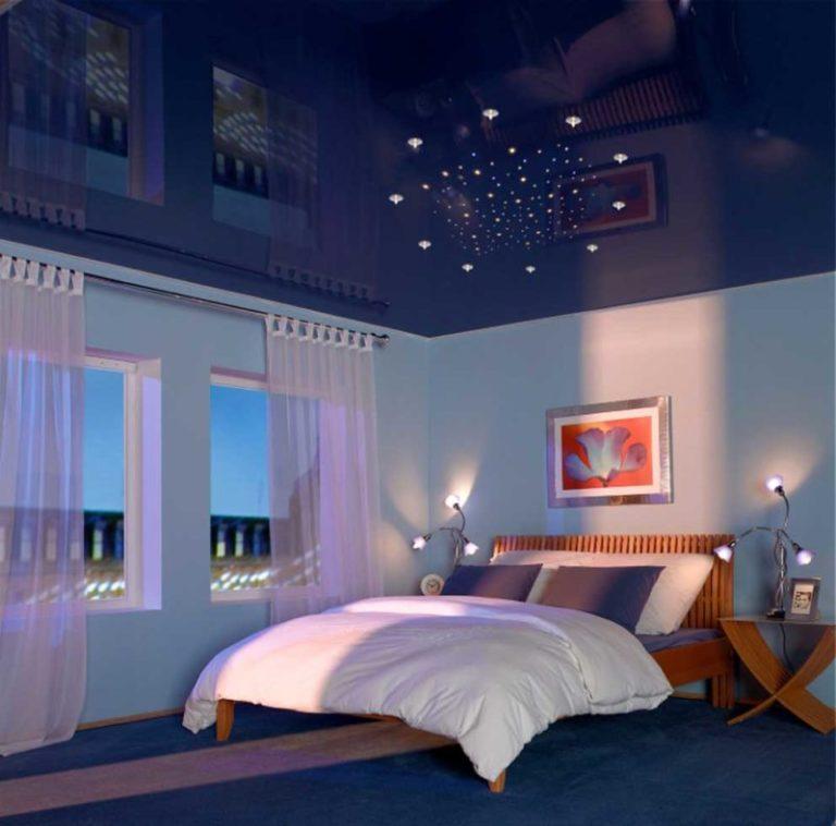 Как лучше сделать потолок в спальне