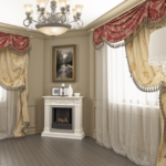 Pelmets in the living room (01)