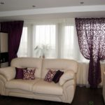Pelmets in the living room (3)