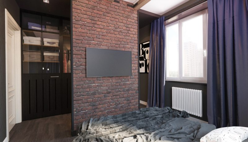 Перегородка в спальне (17)