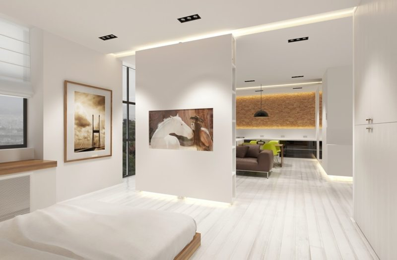 Перегородка в спальне (47)