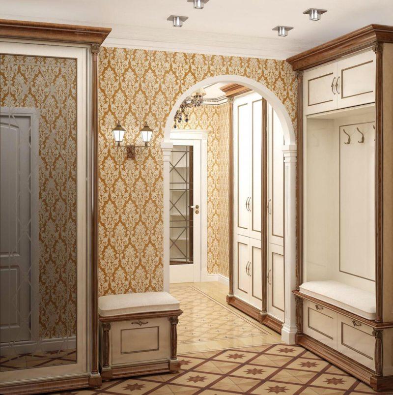 Прихожая дизайн классический стиль
