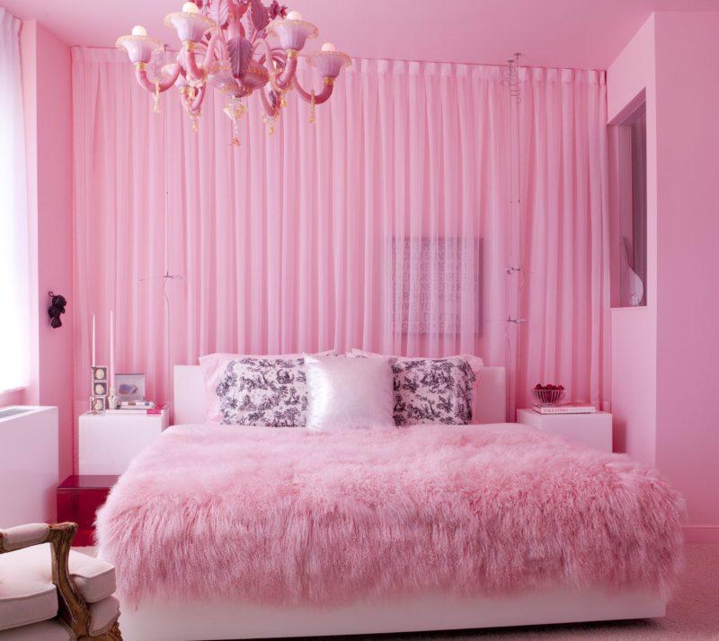 Розовая спальня — модный и эффективный дизайн (58 фото новинок)
