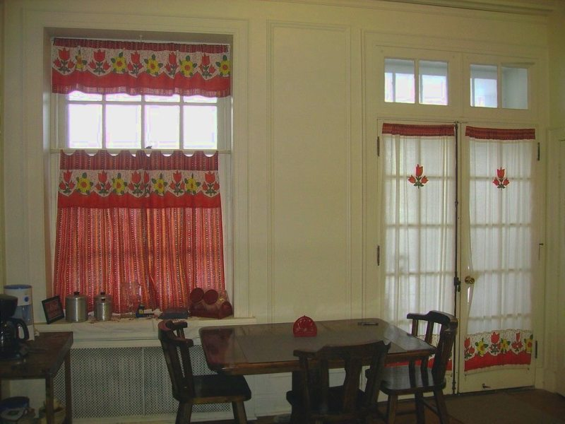 Red Kitchen Curtains Stylishly Lovely