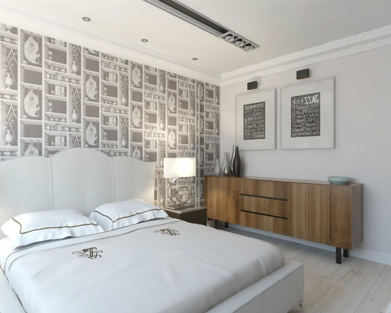 Интерьер и дизайн спальни 18 кв.м