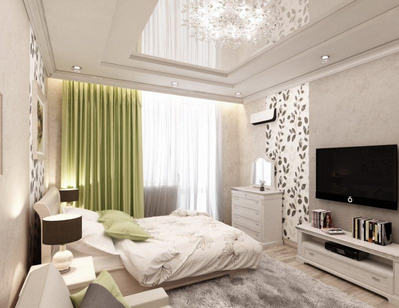 Дизайн спальни-гостиной 15.6 кв.м.