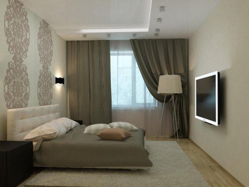 Спальня-гостиная 15 кв.м реальный дизайн фото