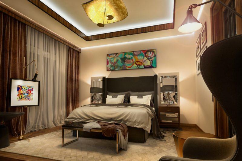 Спальня в частном доме (39)