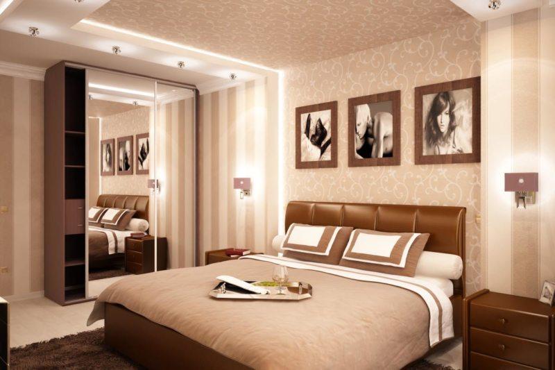Дизайн спальни 12 кв м в хрущевке