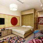 Спальня в однокомнатной квартире (10)