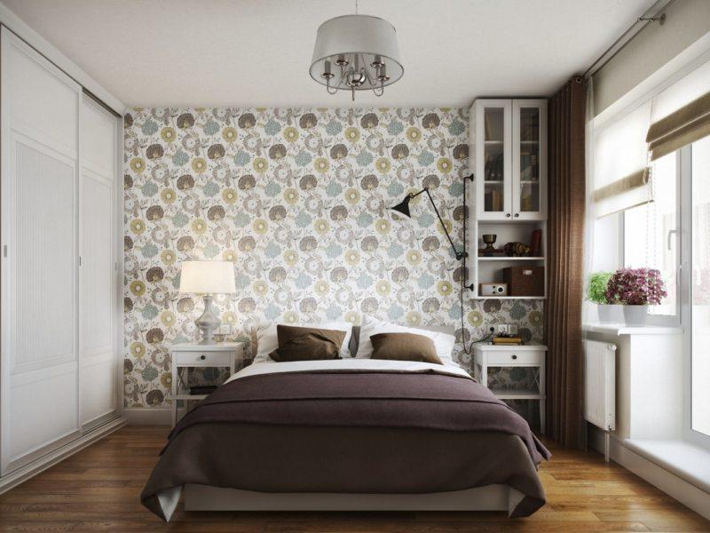 Спальня в однокомнатной квартире (27)
