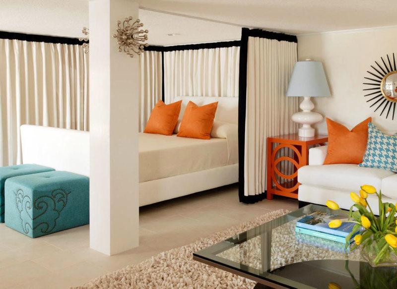 Спальня в однокомнатной квартире (31)
