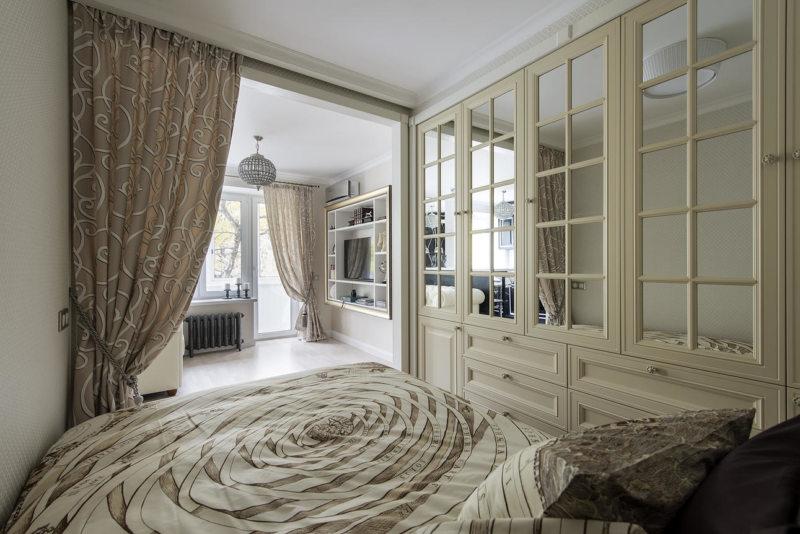 Спальня в однокомнатной квартире (4)