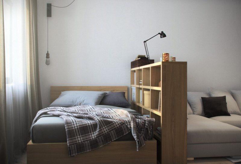 Спальня в однокомнатной квартире (42)
