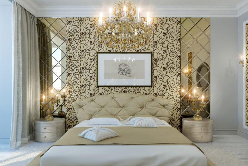 Спальня в однокомнатной квартире (47)