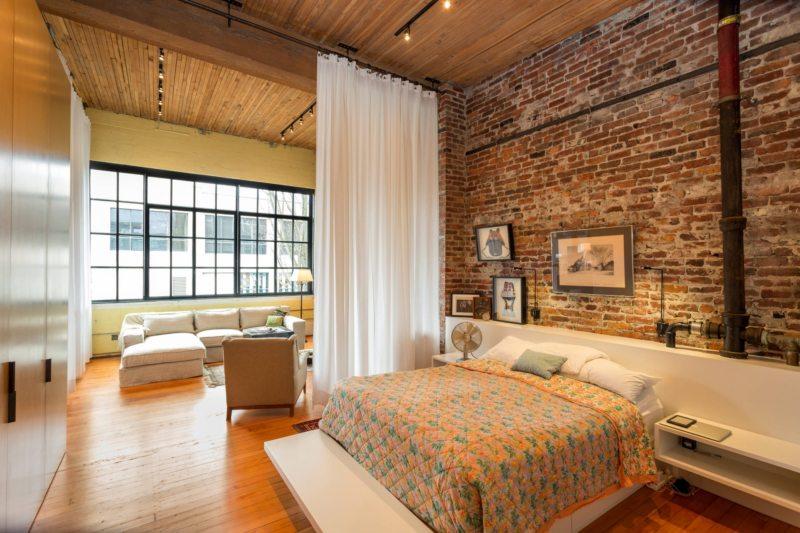 Спальня в однокомнатной квартире (5)