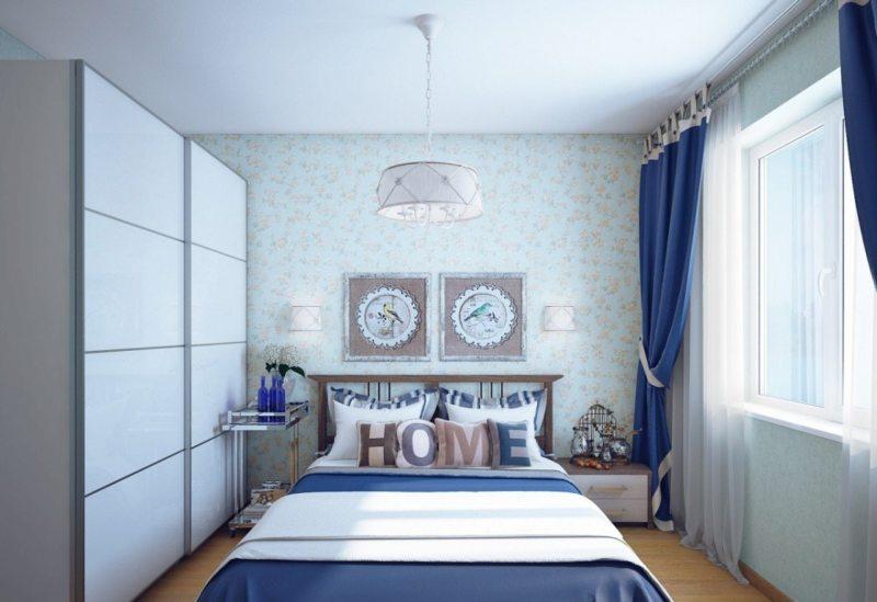 Спальня в однокомнатной квартире (59)