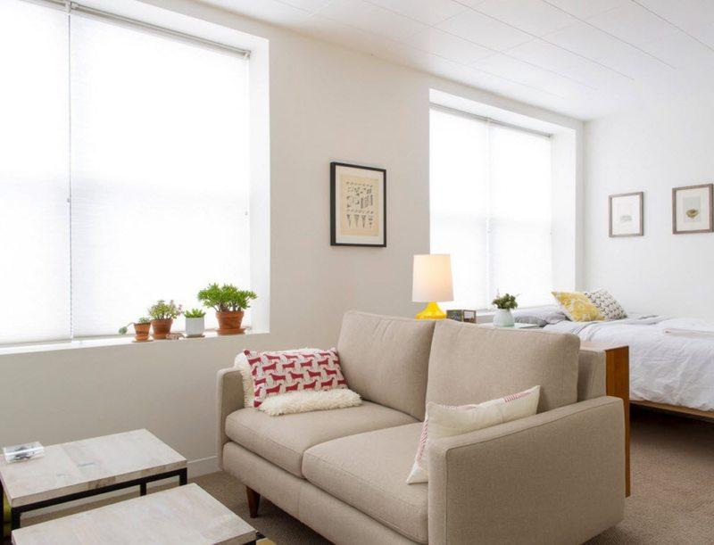 Спальня в однокомнатной квартире (6)