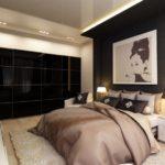 Спальня в однокомнатной квартире (8)