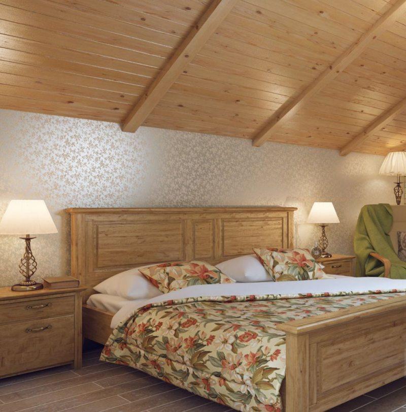 Спальня в стиле кантри (32)