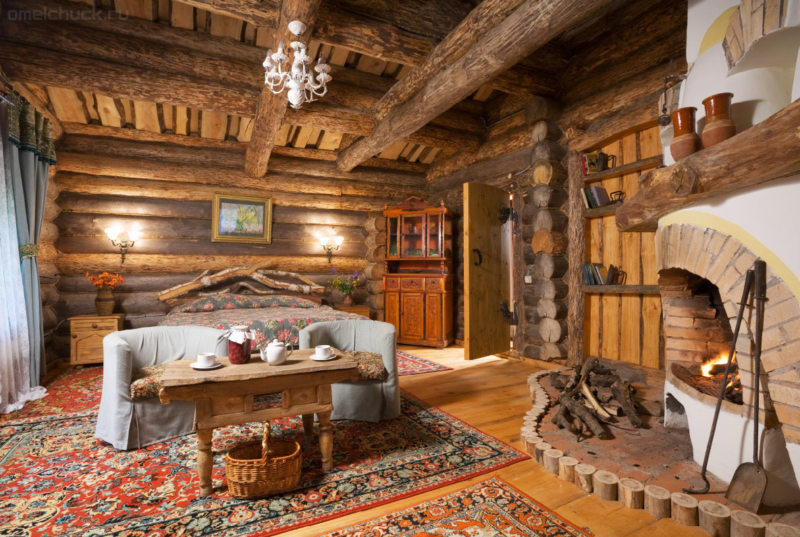 Спальня в стиле кантри (55)