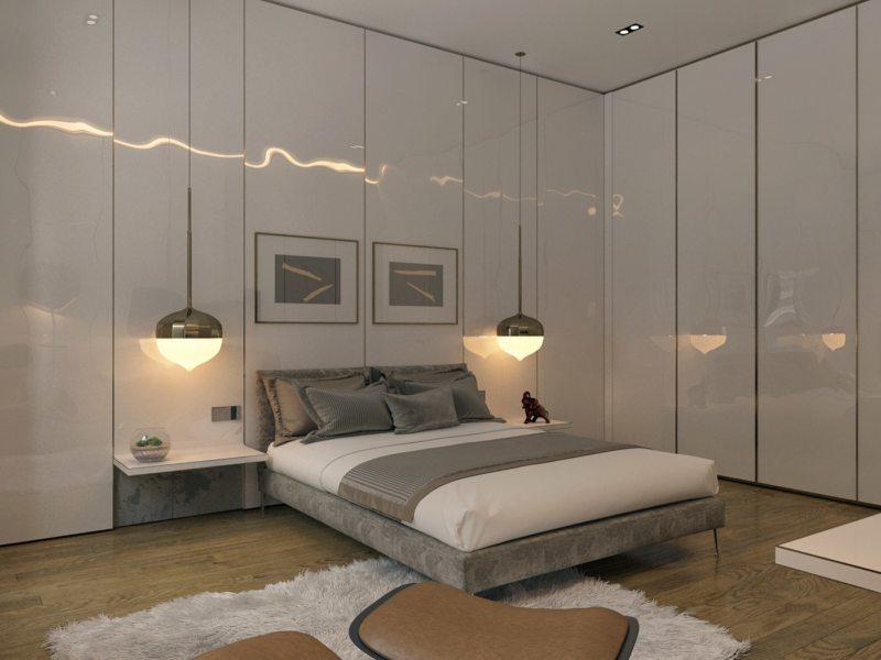 Спальня в стиле модерн (29)