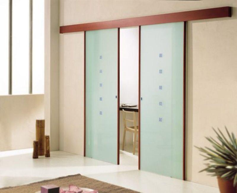 Стеклянные двери в интерьере (11)