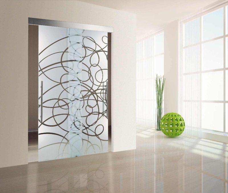 Стеклянные двери в интерьере (14)