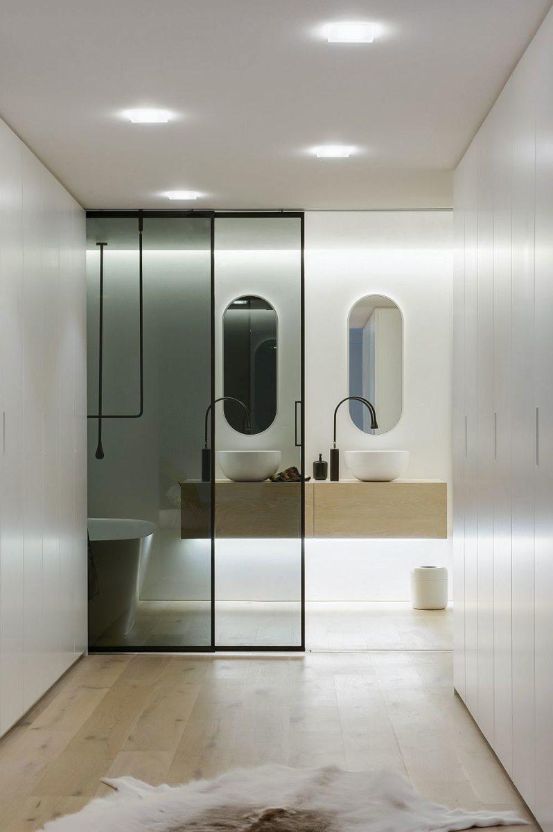 Стеклянные двери в интерьере (16)