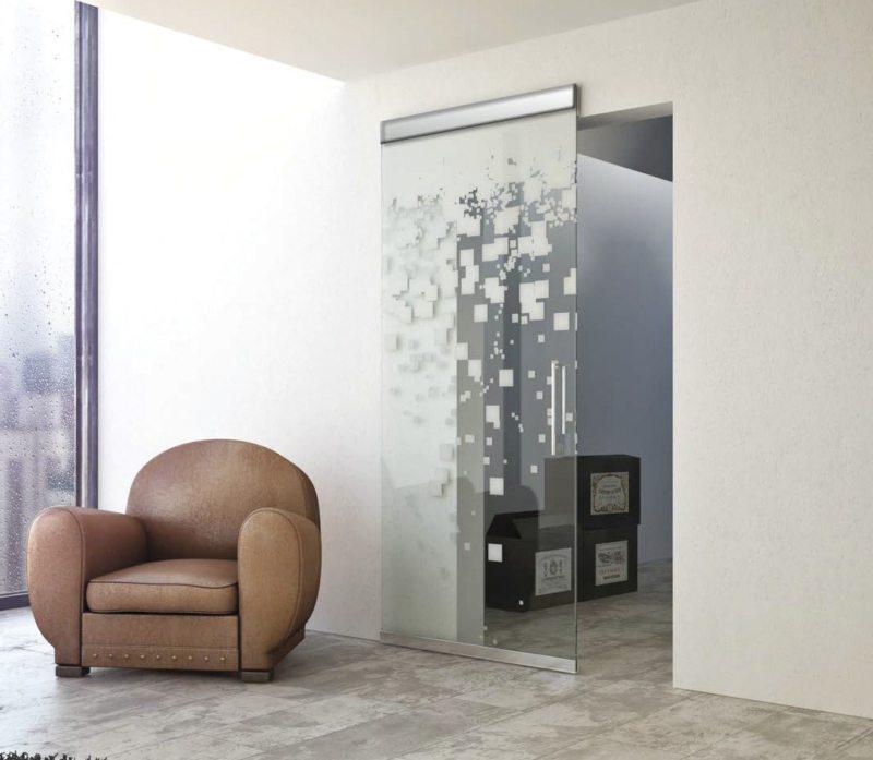 Стеклянные двери в интерьере (19)